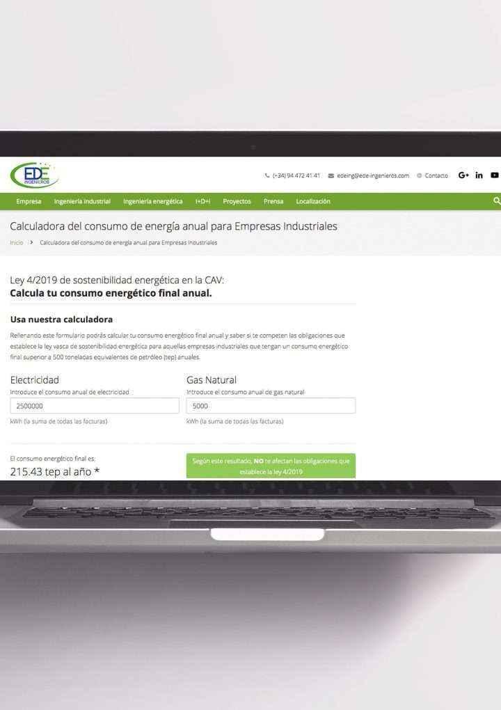 La web de EDE Ingenieros permite a las empresas vascas saber si les afecta la Ley de Sostenibilidad