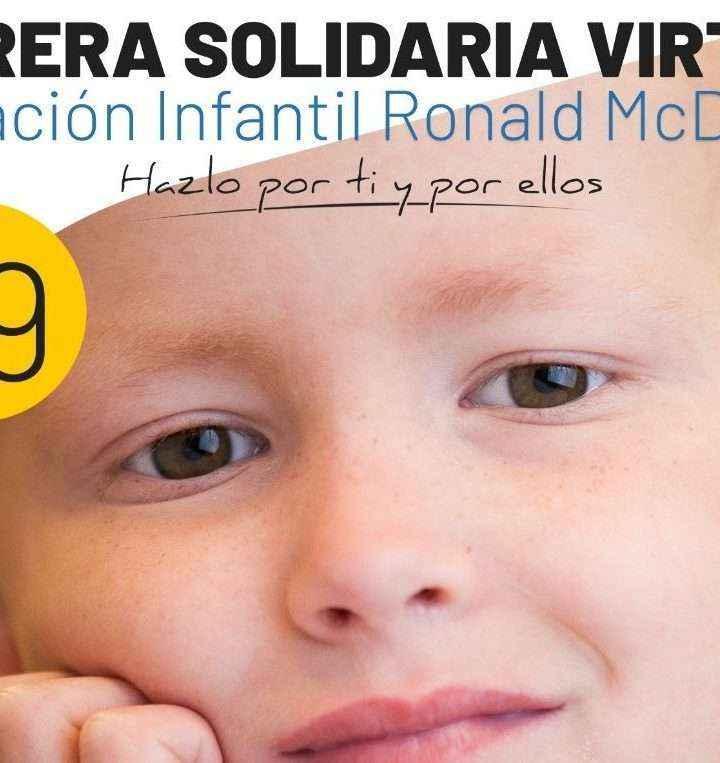 La Fundación Infantil Ronald McDonald organiza una carrera solidaria virtual para comprar material sanitario para sus familias
