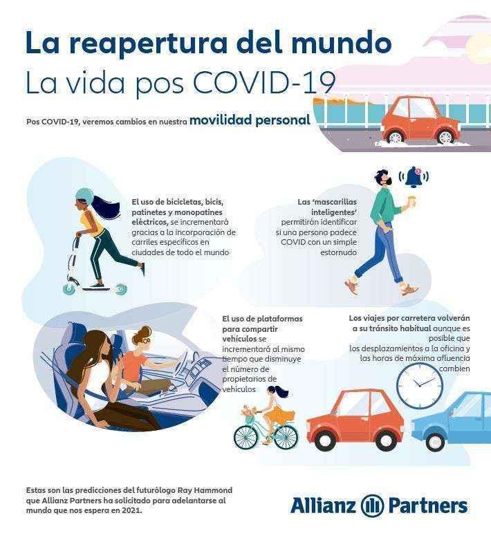 El informe de Allianz Partners vaticina que el car-sharing y car-pooling serán la tendencia en la movilidad pos-Covid19