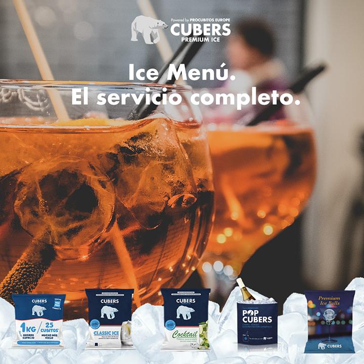 Cubers, empresa líder en su sector, crea el Ice Menú, la primera carta de hielo con 5 variedades premium