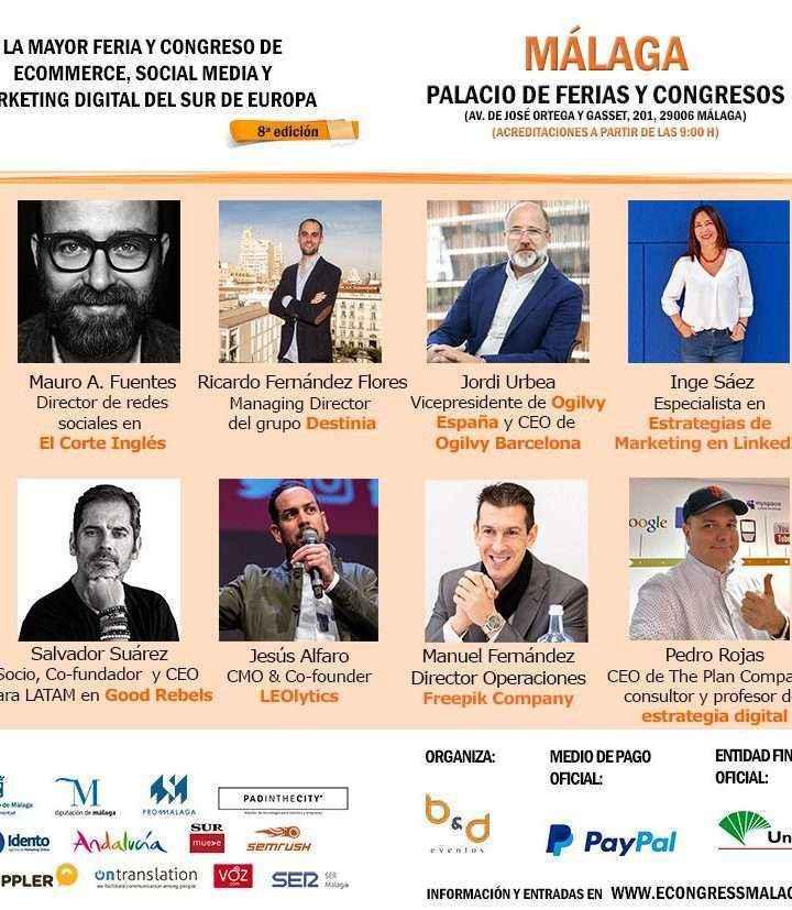 eCongress Málaga, epicentro del ecommerce, social media y marketing digital vuelve el 12 de septiembre