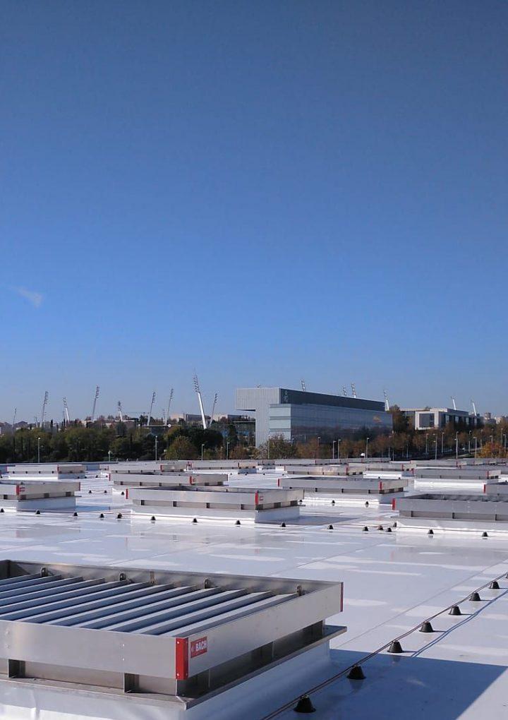 La lámina TPO de BMI instalada en tiempo récord en el nuevo Hospital de Emergencias Isabel Zendal en Madrid
