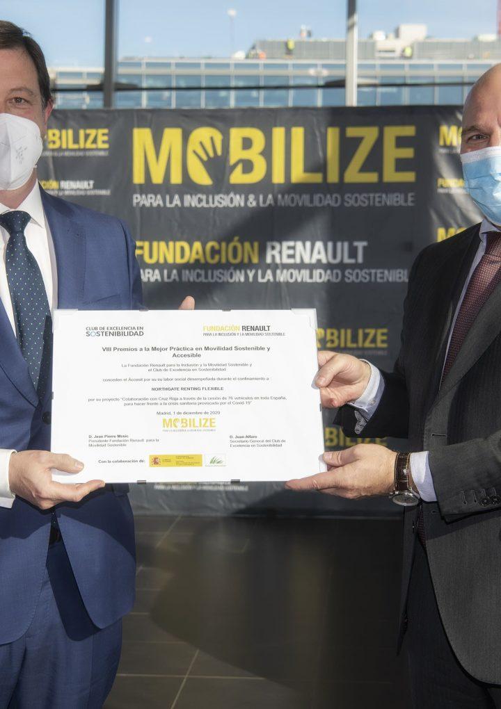 Northgate Renting Flexible recibe el reconocimiento de la Fundación Renault en los VIII Premios a la Mejor Práctica de Movilidad Sostenible y Accesible