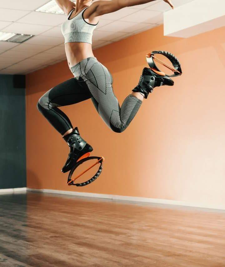 Entrenamiento con botas de rebote por Vanity Fit